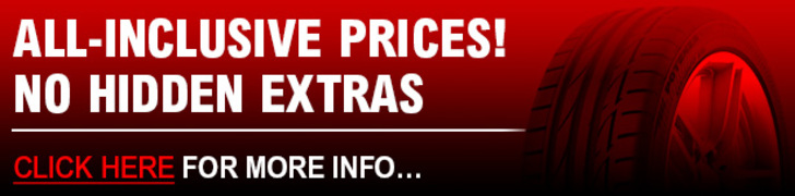 All Inclusive Prices on Tyres